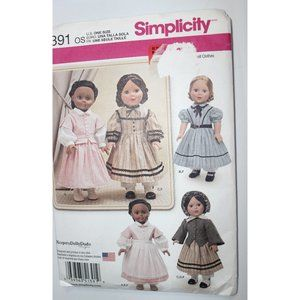UNCUT Simplicity 1391 sewing pattern DOLL CLOTHES